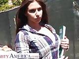 Naughty America Rachel Roxxx fucks stranger in dorm room