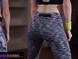 Fitness Rooms Flexible lesbian Alecia Fox and redhead