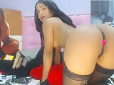 Sexy Latina In Stocking Shakes Her Big Booty