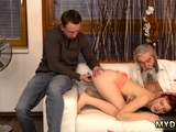 Old blond mom hd Unexpected practice with an older