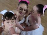 Redhead teen strips and masturbates webcam Ballerinas