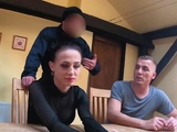 Hot European babe is trading sex