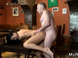 Old men young girl orgy Can you trust your gf leaving her