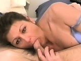 Asian brunette who likes cocks does blowjob to Rocco