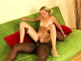 Hot russian blonde youngster Janet cums again and again