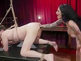 Arabelle Raphael anal fisting male slave