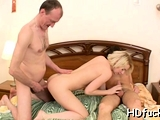 Ravishing young russian floozy gets filled up to an edge