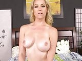 Big Tits Blonde Deepthroating in Live Show Before Having Har