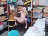 Blonde Slut Riley gets fuck by dudes cock