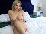 MILF lets stepson watch her masturbate seductively