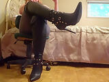 On Your Knees Bow & Serve My Sexy Leather Boots - TacAmateurs