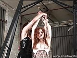 Lesbian slave Isabel Deans bondage and electro BDSM