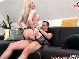 blonde prostitute in catsuit first time german casting