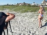 Tay Conti aka wwe nxt Taynara Conti photoshoot on the beach