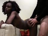 Beautiful Ebony Teen Fucks Big Cock On Casting Couch
