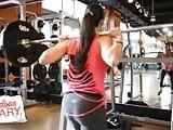 WWE - A.J. Lee doing squats