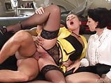 SOFIE VALENTINE & GIOIA BIEL (Black Stockings) Threesome