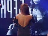 Russian pornstar Berkova shows tits on TV