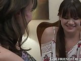 Wild girl on girl time for cougar with young chubby teen