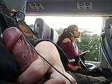 cumflash next to indian girl in bus