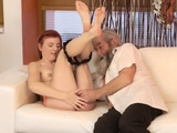 Blonde anal scream Unexpected practice with an older