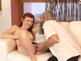 Aroused blonde sweetheart adores sex a lot