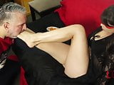 Demi dominates guy with her feet and fruits in Frutish 5