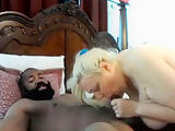 Phat mature blonde riding Big Black DIck till orgasm