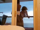 Public balcony sex on carnival cruise ship