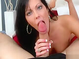 Beauty takes rock hard cock in mouth