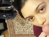 India Desi College Girlfriend give first time blowjob and cum in mouth