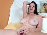Webcam masturbation super hot chubby milf with glass dildo