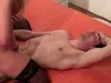 German Step Son Caught Mom Lesbian and Join in FFM Threesome