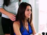 Voracious young brunette Arielle Faye enjoys hardcore sex
