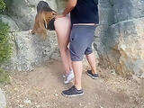 Fucking my stepsister outdoors and making her a creampie