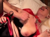 Fingerfucked chubby submissive rides