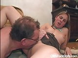 Teeny caregiver fucked hard by old pervert