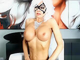 Gorgeous Blonde MILF With Painted Face Mask