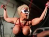 PORNSTARPLATINUM Busty Alura Jenson Fucks Dildo In BDSM Play