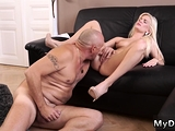 Old father in law Horny blonde wants to try someone tiny