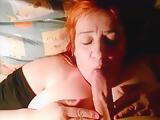 Chubby MILF blowjob and Creampie