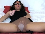 Cum On My Nylon Thigh Jerk Off Instructions With Countdown