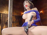 Busty Latina is machine fucked bondage