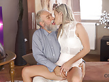 VIP4K. Angel-face sucks old dick and gets it in her sensitiv