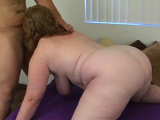 Fat cutie seduces nice-looking chap to bang her very well