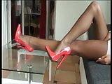 stunning legs in pantyhose & heels