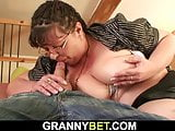 Fat old mature gets picked up and doggy-fucked