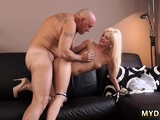 The very best blonde blowjobs & cumshots Horny blond