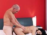 German big boobs blowjob Older gentleman and his princess