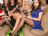 Girls legs with black nylon pantyhose will drive you crazy